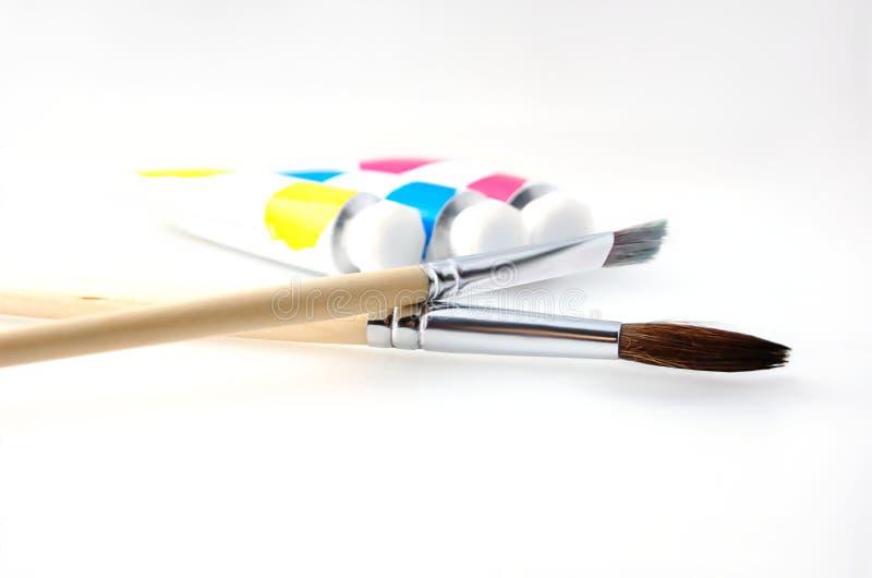 paintbrushes royaltyfri fotografi