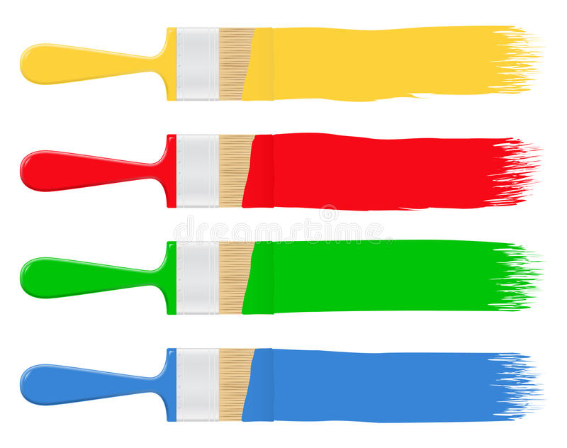 Paintbrushes royalty free illustration