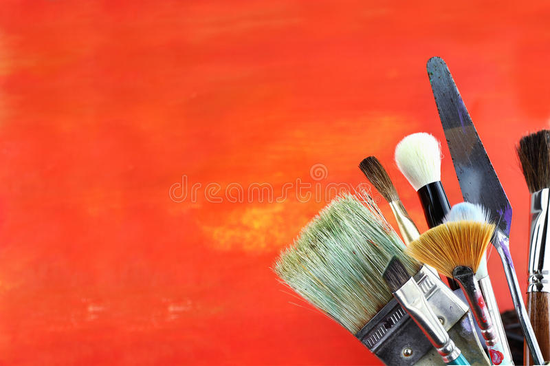 Download Paintbrushes stock photo. Image of orange, artist, brushes - 21926366