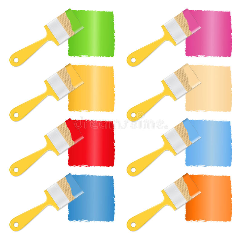 Paintbrushes stock illustration