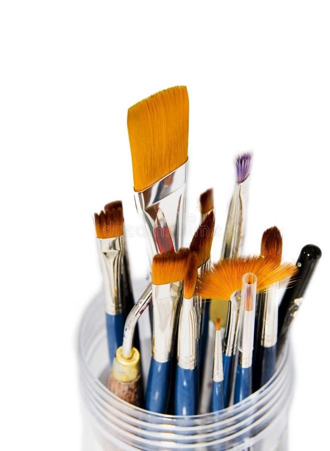 Download Paintbrushes стоковое фото. изображение насчитывающей краска - 476010