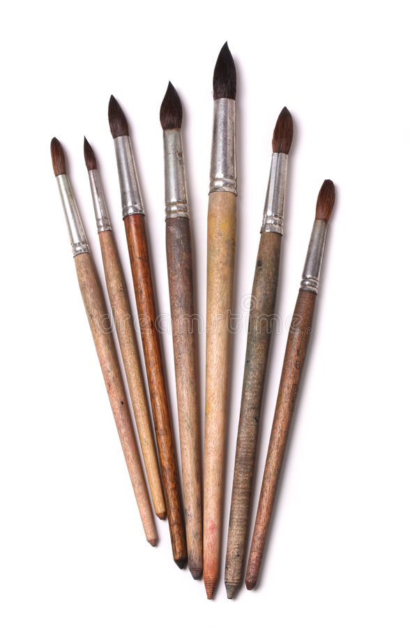 paintbrushes akwarela obraz royalty free