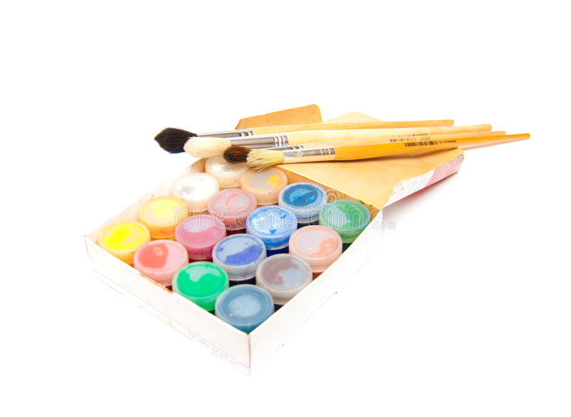 Download Paintbrushes And Dye Stock Photography - Image: 15125812