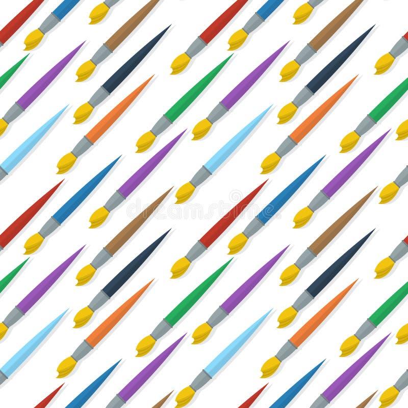 Paintbrushes wzór royalty ilustracja