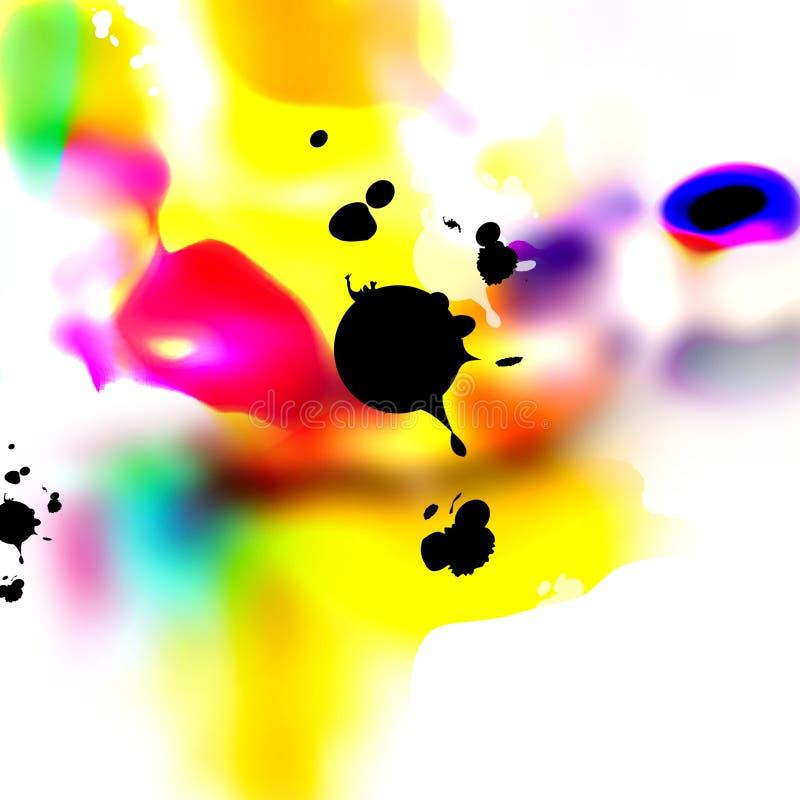 Paintdrops ilustração do vetor