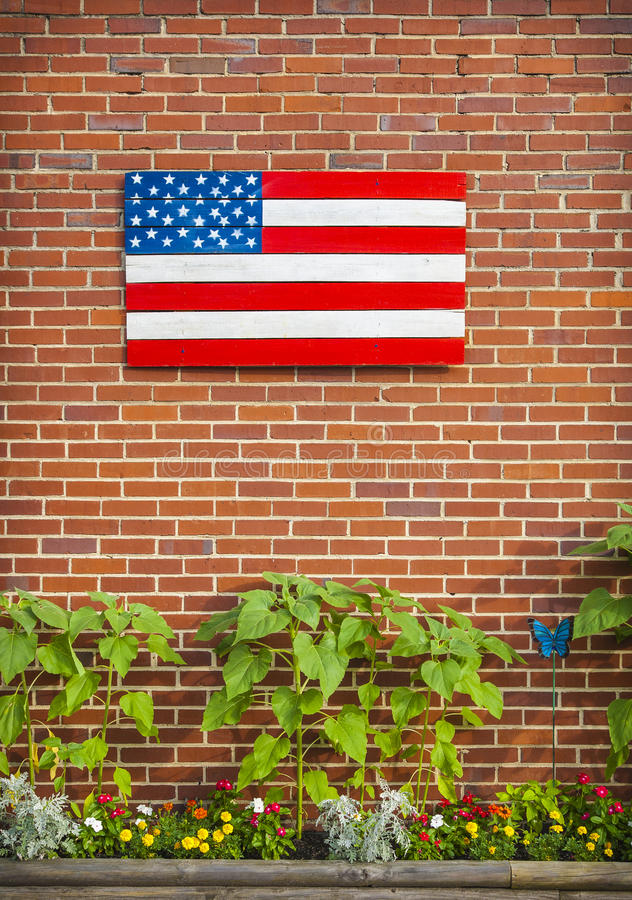 Download Painted American Flag stock photo. Image of planters - 28534322