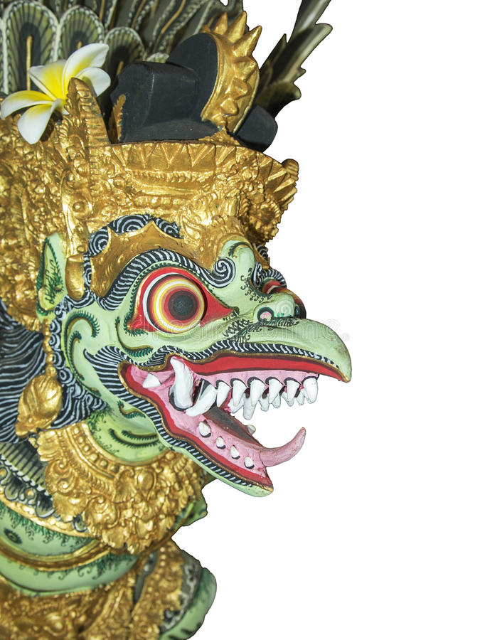 Painted Bali Dragon, Isolated royalty free stock images