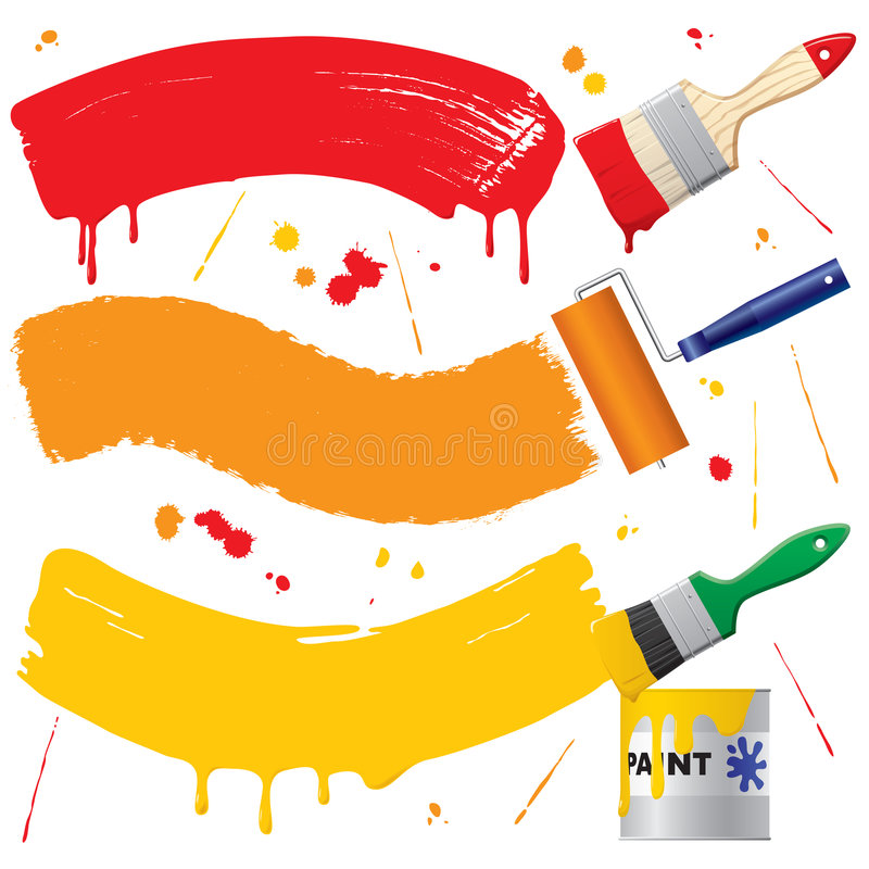Painted banners stock illustration