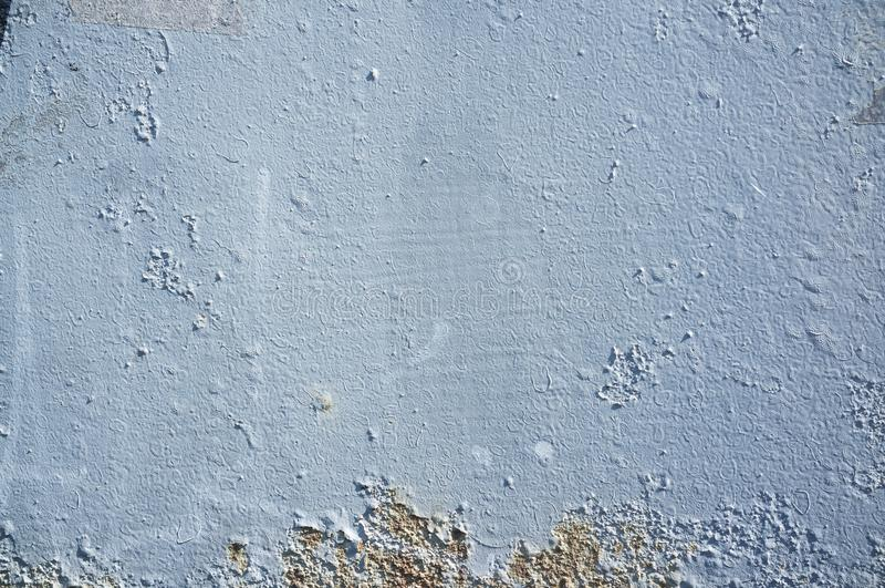 Painted bleue a vieilli le mur images stock