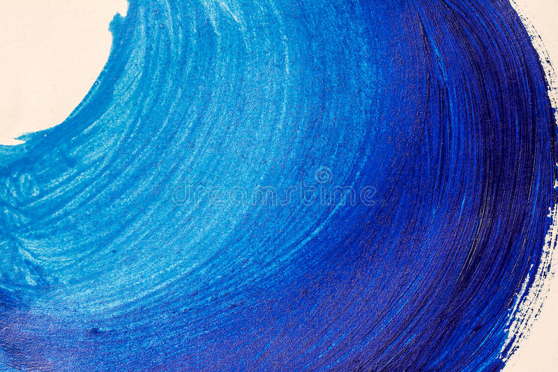Painted blue wave stock photo