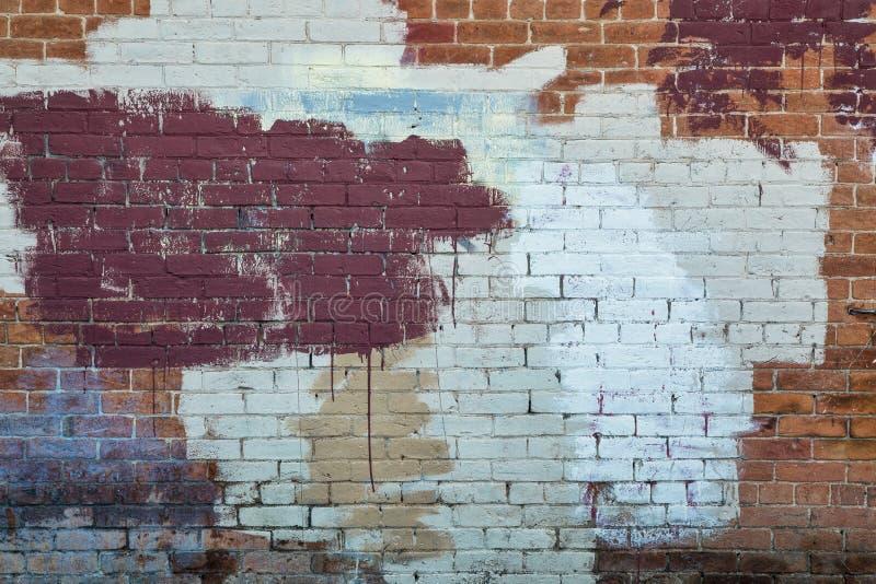 Painted brick wall texture stock photo