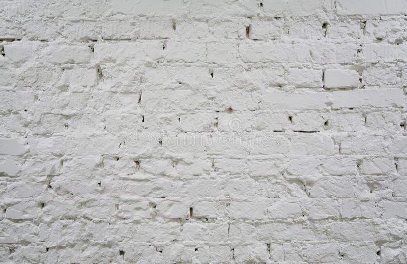 Painted brick white wall 2 royalty free stock photos