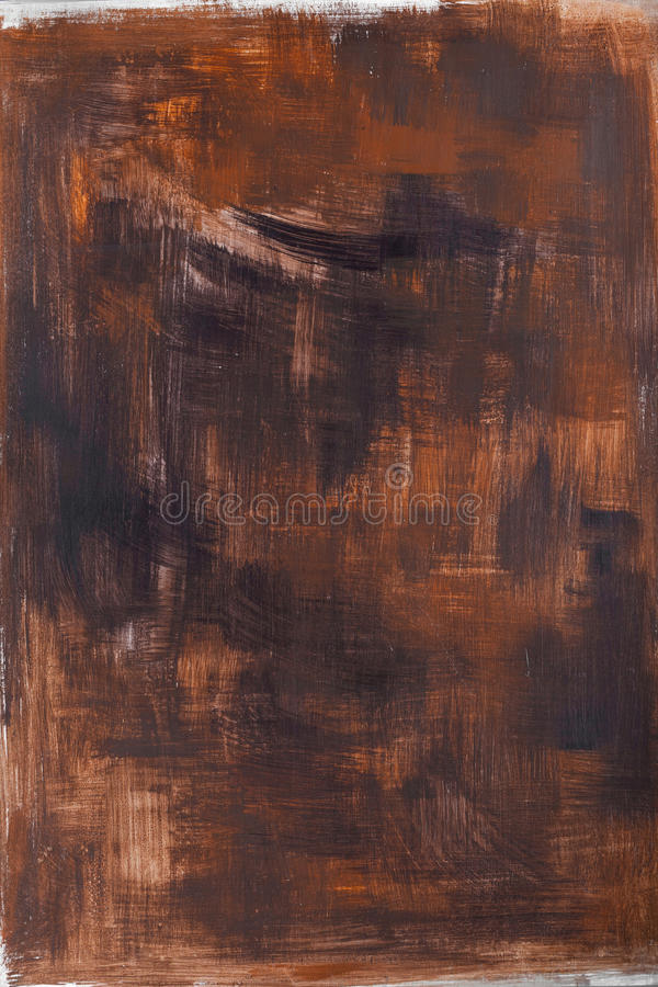 Painted brown background strokes stock photo