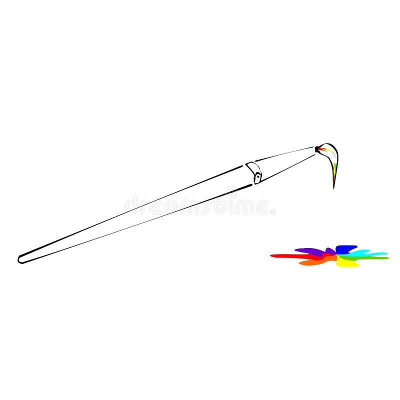 Painted brush stock image