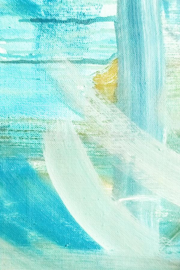 Abstract painting detail texture background with brushstrokes stock image