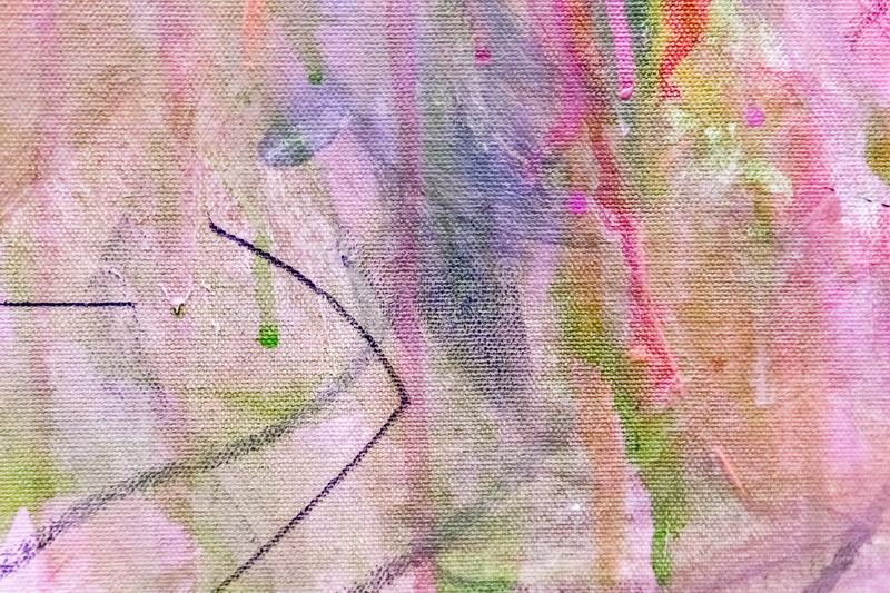 Abstract painting detail texture background with brushstrokes. Painted canvas fragment, abstract art painting detail texture background with brushstrokes royalty free stock photography