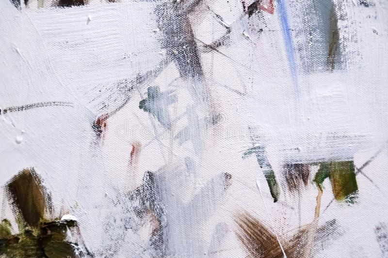Abstract painting detail texture background with brushstrokes. Painted canvas fragment, abstract art painting detail texture background with brushstrokes stock images