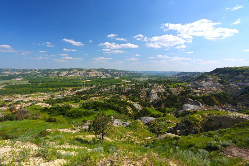 Painted Canyon in Badlands, Theodore Roosevelt National Park stock photography