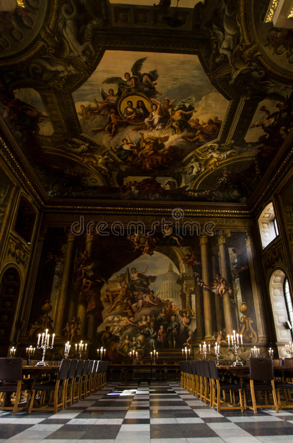 Painted Ceiling Church, Greenwich London royalty free stock image