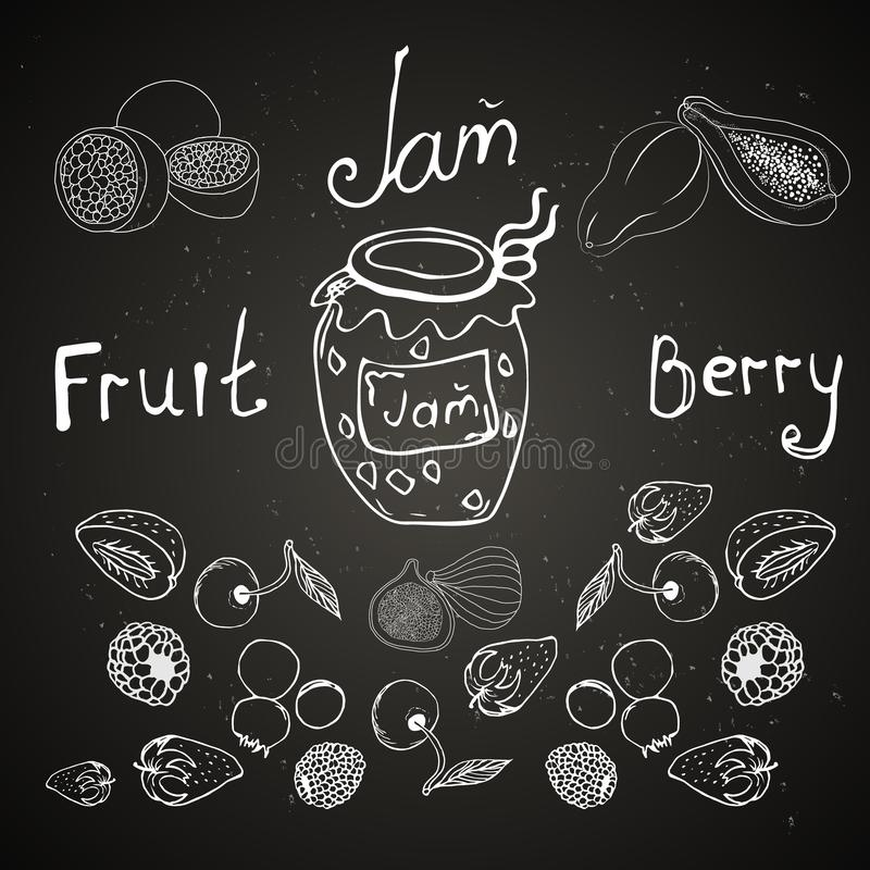 It is painted chalk on a board. It can be applied in the menu for a cafe stock illustration