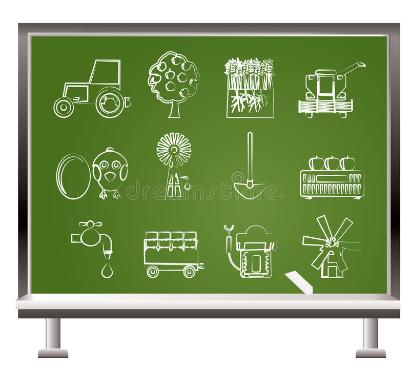 Download Painted With Chalk Farming Industry Icons Stock Vector - Image: 18475037