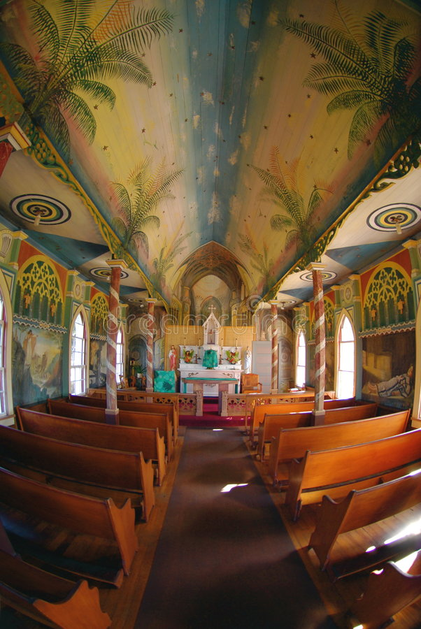 Painted Church Royalty Free Stock Images