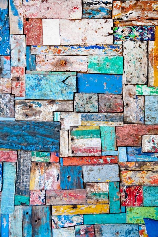 Painted descascou a textura de madeira da decoração imagem de stock