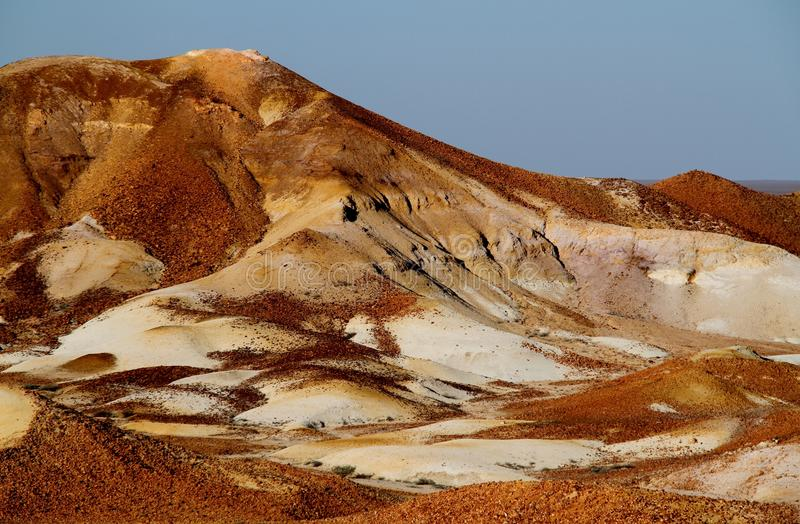 The Painted Desert, Coober Pedy, South Australia. The Painted Desert is in the Far North of South Australia, 120 kilometres (75 mi) north-east of Coober Pedy, in royalty free stock image