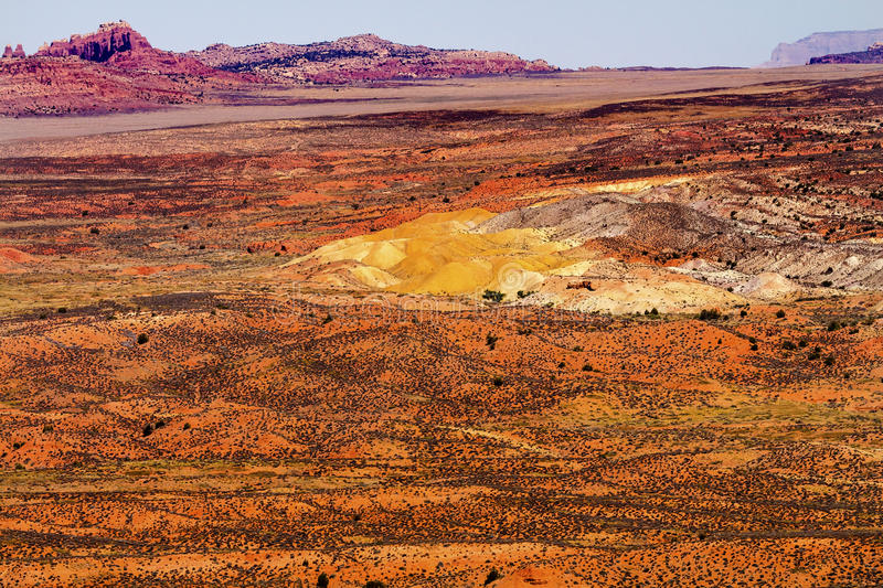 Painted Desert Yellow Grass Lands Orange Sandstone Red Fiery Fur. Painted Desert Colorful Yellow Grass Lands Orange Sandstone Red Fiery Furnace Arches National royalty free stock photo