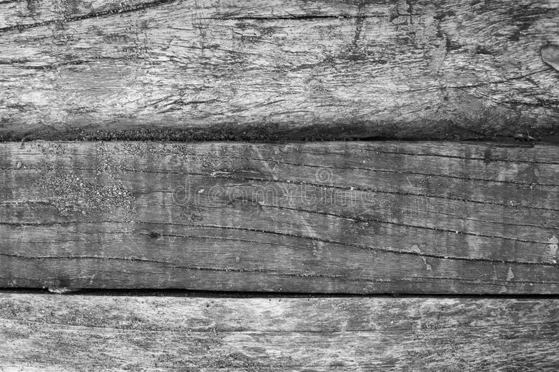 Painted distressed wood texture photo. Gray timber board with weathered crack lines. Natural background for shabby chic design. Grey wooden floor. Obsolete royalty free stock photo