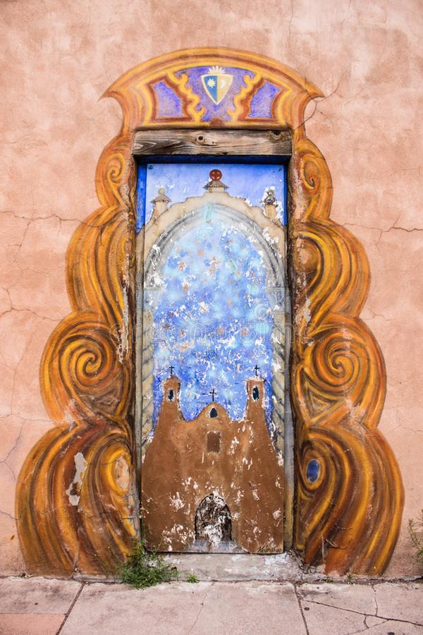 Painted Door stock photo
