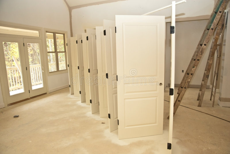 Painted Doors/Construction stock photography