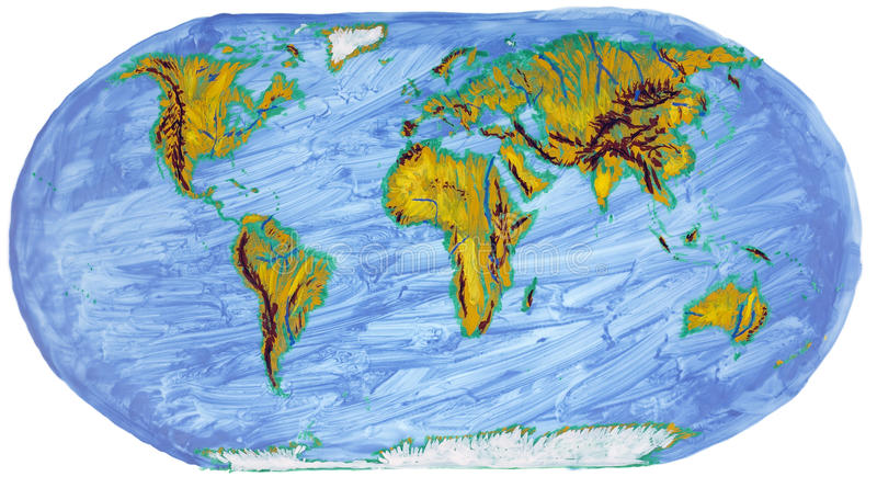 Download Painted Earth Primitive Map Royalty Free Stock Photography - Image: 31998697
