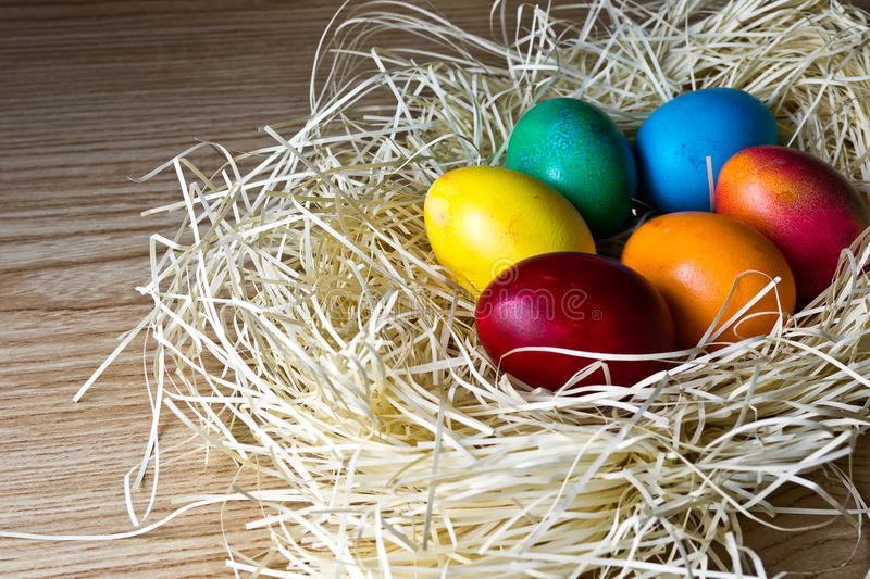 Download Painted Easter eggs stock photo. Image of orange, colorful - 19627642