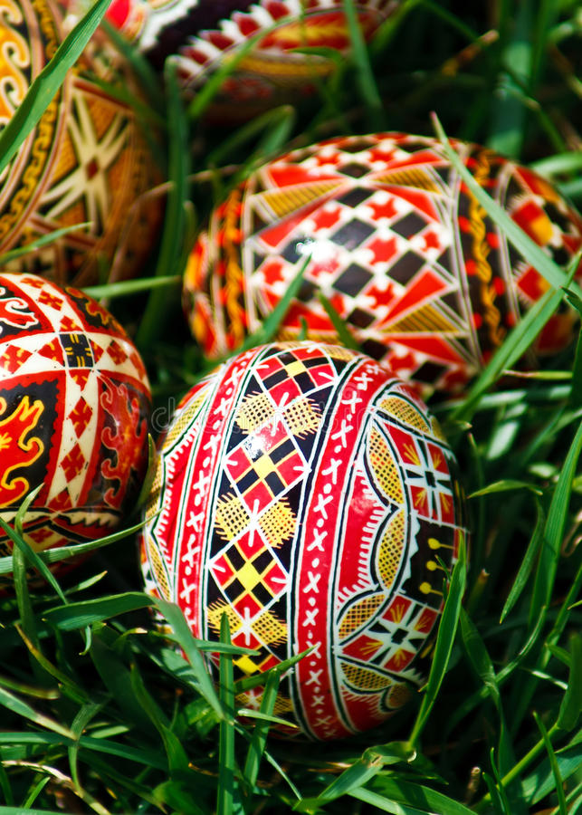 Download Painted Easter eggs 23 stock image. Image of easter, grass - 29618191