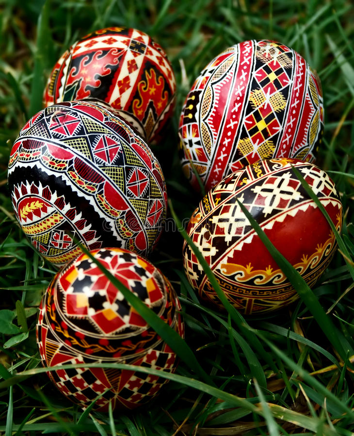 Painted Easter Eggs 24 Stock Photos
