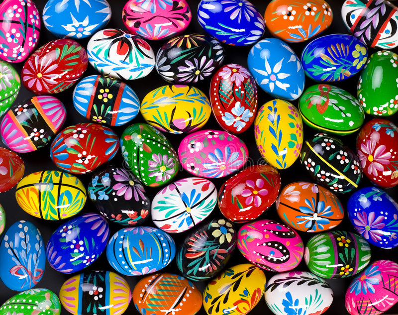 Download Painted Easter eggs stock image. Image of pattern, colorful - 3512765