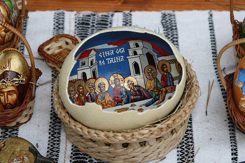 Download Painted egg stock image. Image of doctrinism, crucifix - 974729