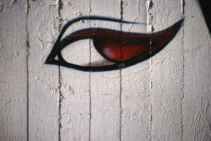 Painted eye royalty free stock photos