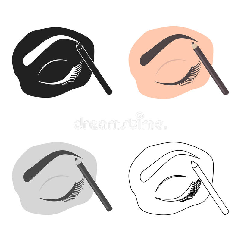 Painted Eyebrows Icon In Cartoon Style Isolated On White