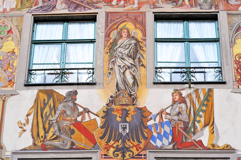 Download Painted Facade Of Medieval Building In Konstanz Stock Photo - Image of attraction, constance: 27886826