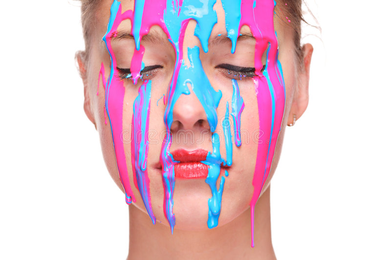 Download Painted face stock image. Image of makeup, color, face - 7695709