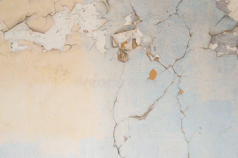 Painted a fendu la texture de mur image libre de droits