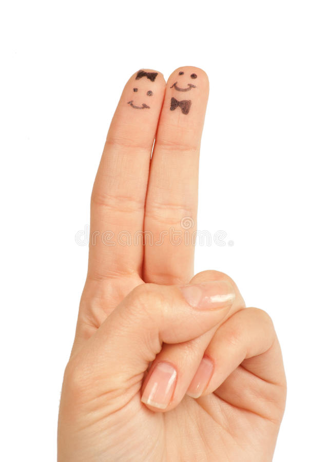 Download Painted finger smiley stock image. Image of hand, peace - 22778035