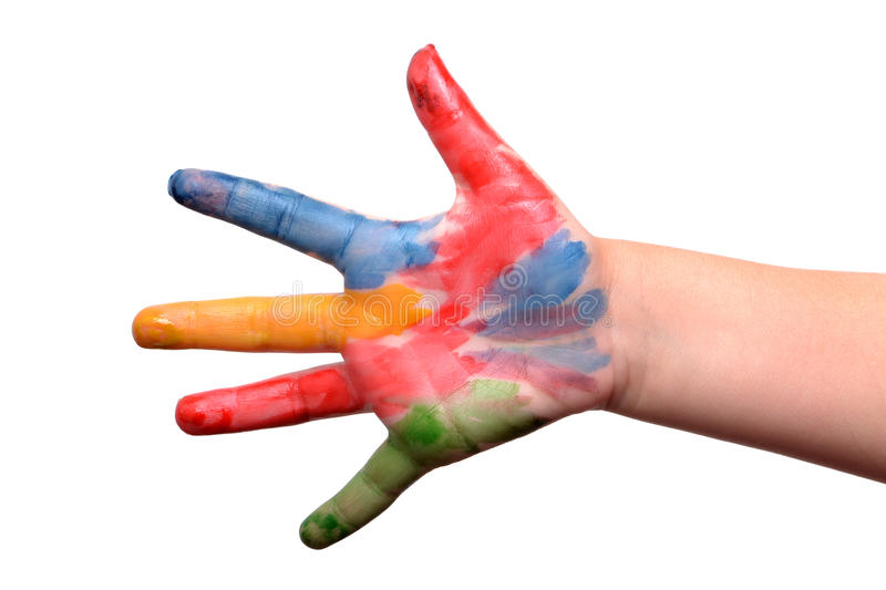 Painted Fingers royalty free stock photo