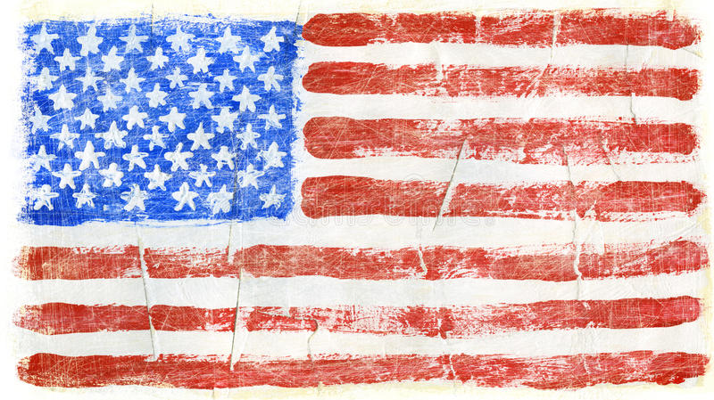 Painted flag stock image