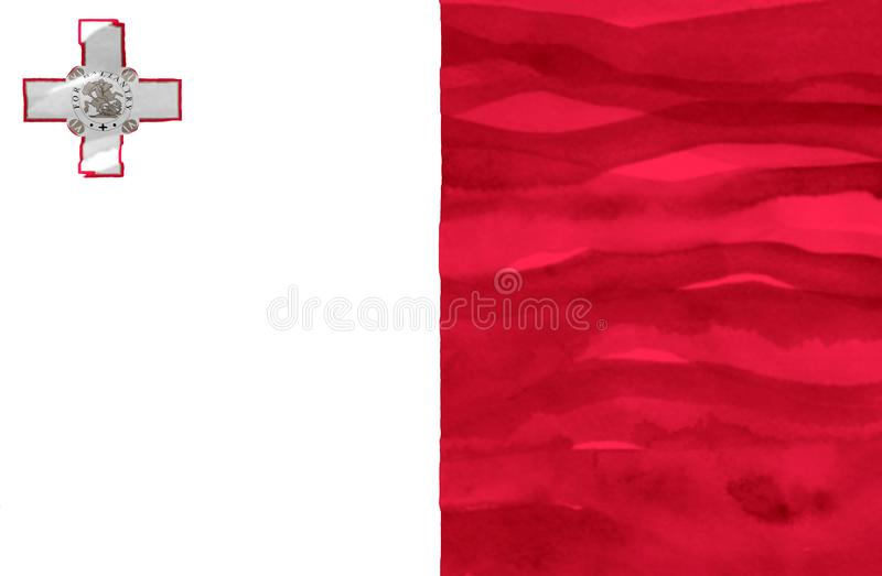 Painted flag of Malta royalty free stock images