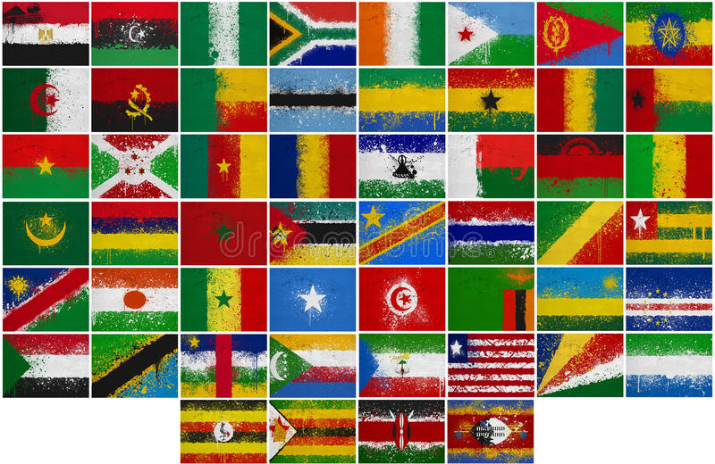 Download Painted Flags of Africa stock illustration. Image of collage - 28813611