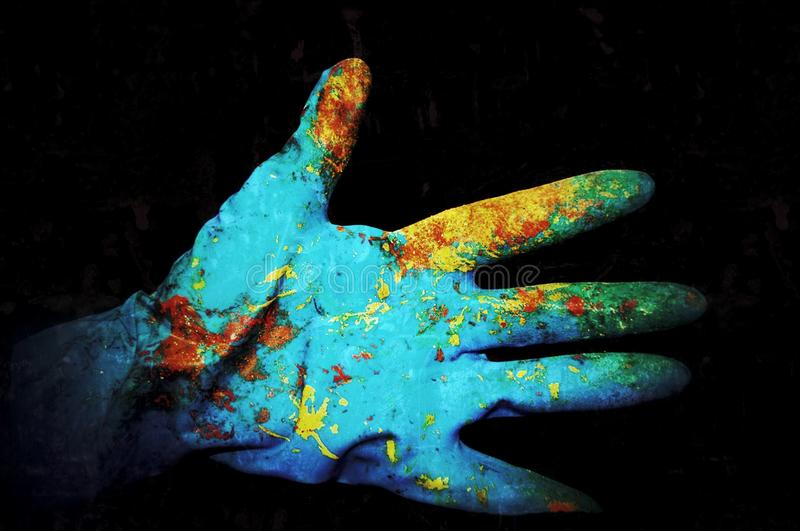 Painted glove stock photography