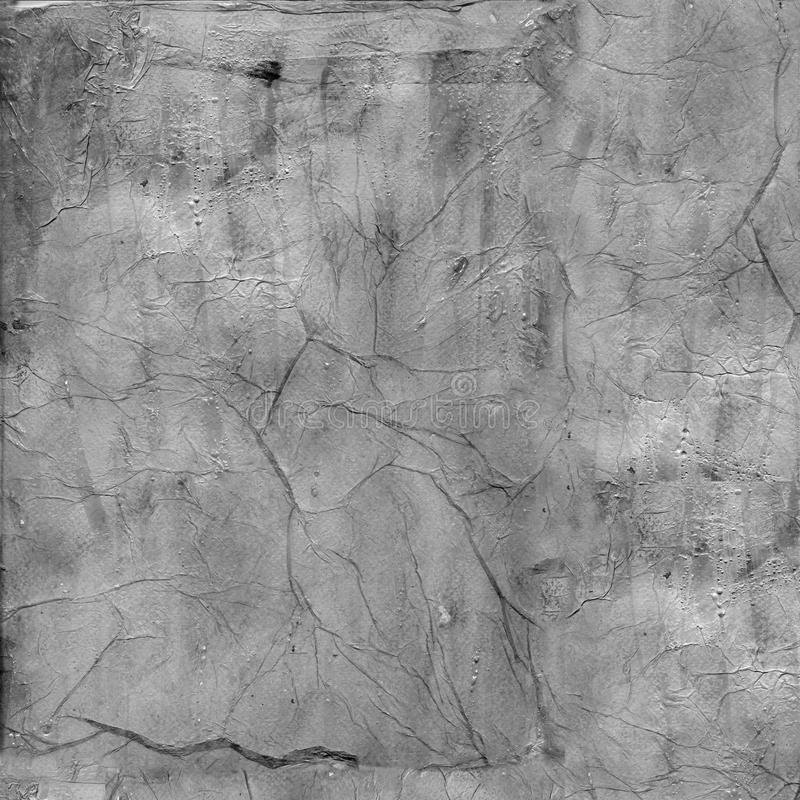 Painted grunge overlay texture with dimension. In grey royalty free stock photo